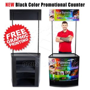 Black (PVC) Promotional Counter