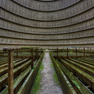 Marriage of gasometer and cooling tower
