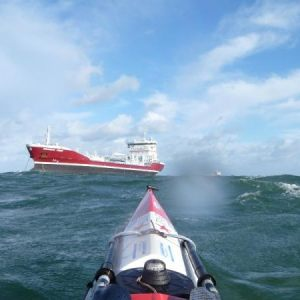 A windy day out of Moelfre