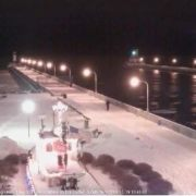 Orsula Last Saltie Leaving Duluth for the year 12-19-2013 645 pm