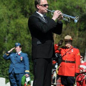 Ceremony Canadian War Cemetery 2013