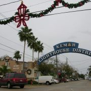 Kemah and area town in December